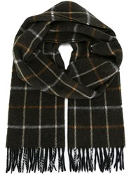 Lanvin Checked Scarf Green