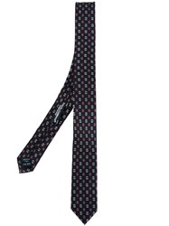 Dolce And Gabbana Micro Print Tie Black