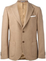 Daniele Alessandrini Single Breasted Blazer Nude And Neutrals