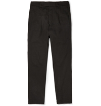 Rick Owens Astaire Drop Crotch Cotton Trousers Black