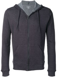 Majestic Filatures Zipped Hoodie Blue