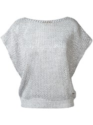 Fay Knit Top Grey