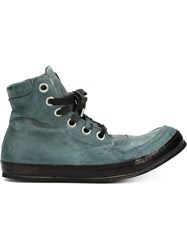 A Diciannoveventitre Hi Top Lace Up Sneakers Grey