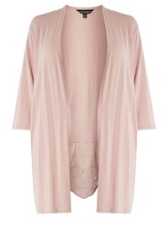 Dorothy Perkins Curve Plus Size Blush Lace Broderie Cardigan Pink