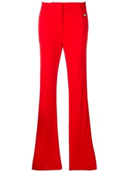 Msgm High Waisted Trousers Red