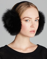 Maximilian Fox Earmuffs With Velvet Band Black