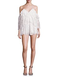 Alice Mccall Lucy In The Sky Cold Shoulder Romper White