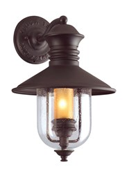 Troy Lighting Old Town Outdoor Wall Light Brown