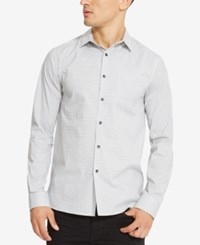 Kenneth Cole Reaction Men's French Front Dash Pattern Shirt White Comb