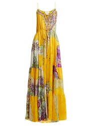 Camilla Golden Years Silk Maxi Dress Yellow Multi