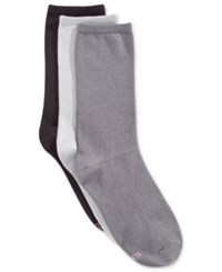 Hanes Women's Comfort Soft Crew Socks 3 Pack Grey
