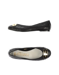 Galliano Ballet Flats Black