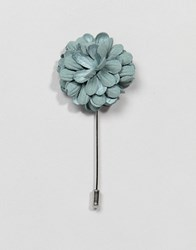 Burton Menswear Wedding Flower Tie Pin In Dusty Green Pastel Green