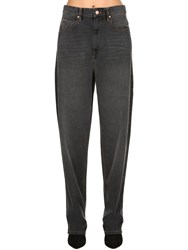 Etoile Isabel Marant Corsy Overboyfriend Cotton Denim Jeans Black