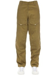 Givenchy Cotton Chino Pants W Patches Green