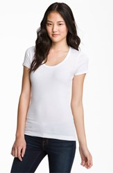 Splendid Women's Lightweight Scoop Jersey Tee White