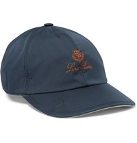 Loro Piana Embroidered Shell Baseball Cap Blue