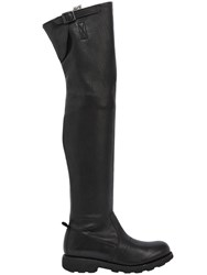 Bikkembergs 20Mm High Stretch Washed Leather Boots