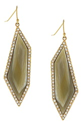 Louise Et Cie 'Octagon Stones' Drop Earrings Gold Horn Crystal