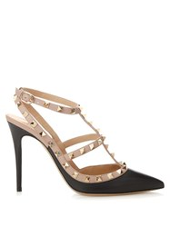Valentino Rockstud Leather Pumps Black Nude