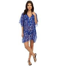 Michael Michael Kors Luna Tunic Cover Up New Navy Women's Swimwear