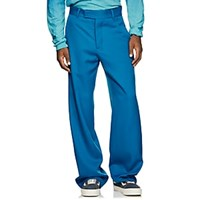 Adaptation Side Striped Wool Tailored Pants Blue