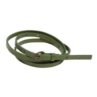 Lowie Green Skinny Leather Belt