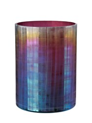 Pols Potten Oily Hurricane Large Candle Holder Purple