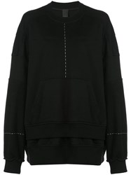 Vera Wang Oversized Sweatshirt Black