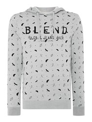 Blend Of America Pattern Crew Neck Pull Over Jumper Stone