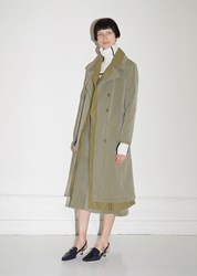 Sies Marjan Devin Cotton Canvas Trench Coat Olive