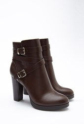 Forever 21 Strappy Faux Leather Booties