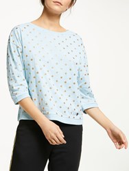 Numph Brighed Spotted Blouse Cory Blue