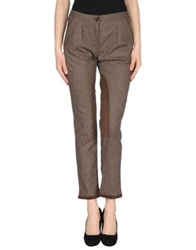 Qcqc Casual Pants Dark Brown