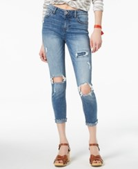 American Rag Juniors' Ripped Skinny Jeans Created For Macy's Blue