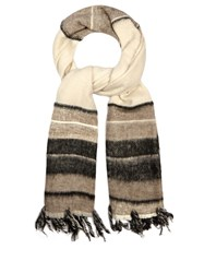 Denis Colomb Dolpo Cashmere Blend Scarf Cream Multi