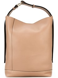 Marni Large Bucket Tote Bag Nude Neutrals