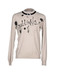 Galliano Sweaters Beige