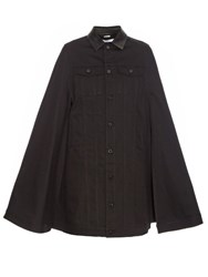 Givenchy Button Down Denim Cape Black