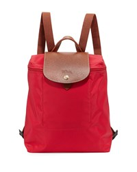 Le Pliage Nylon Backpack Red Garance Longchamp