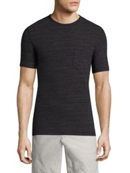 Officine Generale Heathered Pocket Tee Black