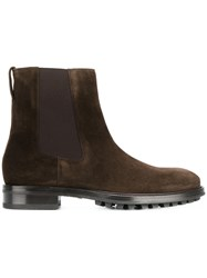 Tom Ford Elasticated Panel Boots Men Leather Calf Suede Rubber 11 Brown