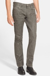 Ralph Lauren Black Label Coated Slim Straight Leg Jeans Charcoal Grey Gray