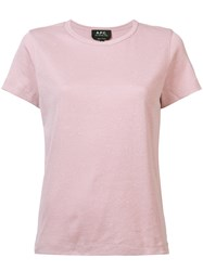A.P.C. Crew Neck T Shirt Pink And Purple