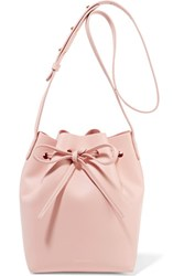 Mansur Gavriel Mini Leather Bucket Bag Pastel Pink