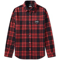 Fc Real Bristol F.C. Arch Star Flannel Check Shirt Red