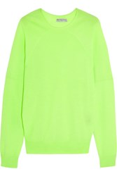 Balenciaga Cashmere Blend Sweater Bright Yellow