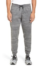 Zella Tech Sweater Knit Jogger Pants Grey Obsidian Spacedye
