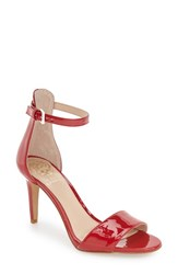Women's Vince Camuto 'Court' Ankle Strap Sandal Red Rose Patent Leather