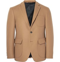 Wooster Lardini Brown Slim Fit Wool Blazer Camel